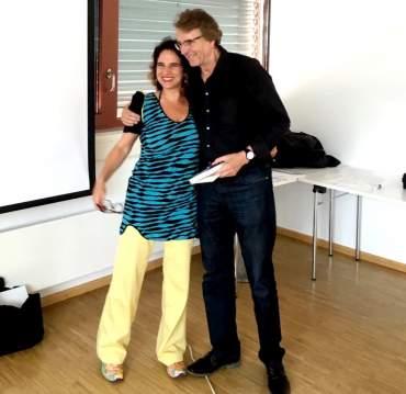 Beatrix Roidinger mit Prof. Ulrich Clement